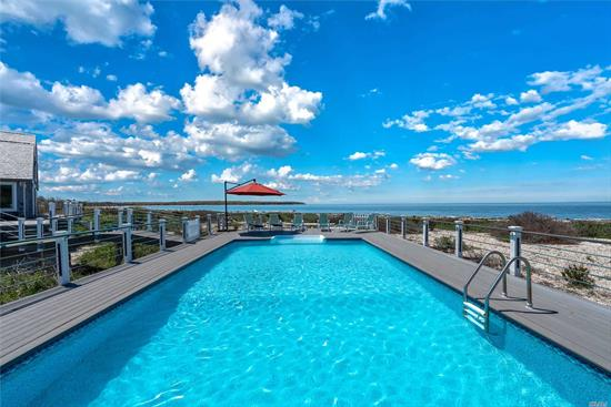 August - Labor Day $30, 000, July $27, 500, July To Labor Day $55, 000. Take In Spectacular Views Of The Long Island Sound And Gardiner's Bay At This 2, 500 Square Foot Renovated Waterfront Home. Turn Key Rental With Full Size Laundry Facilities, 3 Bedrooms Plus Office Loft, 3 Newly Renovated Full Bathrooms, High End Appliances, Central A/C, 16' x 36' Heated Salt Water Pool With Expansive Wrap-Around Deck On 3.86 Acres With 618 Feet Of Private Long Island Sound Beach Front. Newly Renovated Interior.