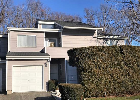 Sale may be subject to term & conditions of an offering plan. Beautifully updated and move in ready 2/3 bedroom 2 bath condo at Hampton Vistas in Manorville. Maple kitchen with stainless appliances, bamboo flooring, crown moldings, vaulted ceiling, skylights, wood burning fireplace, sliders to deck from living and master bedroom, updated mechanicals and much more. Community pool and tennis. Turn Key!