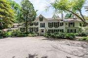 Classic Colonial Rich With History Set High On 5 Acres With Stunning Views Of Sweeping Lawns And Spring Fed Pond. Pool House W/Old Fashion Parlor, Kitchen, Sauna And, Gym And Game Room. 1 Bedroom large Guest Cottage, Playhouse, Waterfalls And Inground Pool.