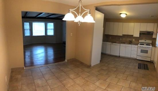 1st Floor Apartment For Rent! Living Rm, Eik, 3 Bdrms & Full Bath. Central Air, Washer/Dryer & Parking.