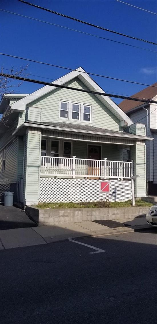 Spacious single family home for sale in North Bergen, NJ just off Kennedy Blvd. Nice front portch. 4 Bedroom, 1.5 Full bathrooms. Living, FDR, Kitchen, half bath and bedroom on first floor. 3 bedrooms, 1 full bath on second floor. semi finished basement. fenced in backyard. This house was vacant for some time. Ideal for Investor / Contractor paying cash or financing through an FHA 203K renovation loan. hardwood floors throughout. New Windows. Close to transporation and shopping. Reasonable taxes. Seller licensed real estate broker in new york.