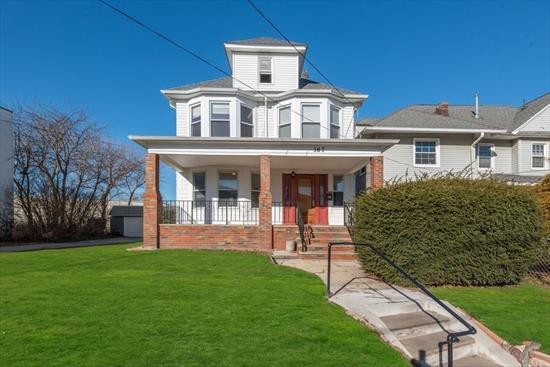 This Beautiful Single-Family Home Is Located Near The Bergen Point Of Bayonne, Providing Easy Access To The Staten Island Bridge And 440 South. This Large Home Features 3 Spacious Bedrooms, 2 Full Bathrooms And A Half-Bath Which Is Located Just Off The Kitchen. The First Floor Is Where You'Ll Find The Large Living And Dining Areas, Providing A Perfect Amount Of Space For A Family To Relax. The Beautiful Woodwork Leads You All Throughout The House, Taking You To The Newly Refreshed Kitchen With Stainless Steel Appliances At The Rear. Heading Upstairs You'Ll Find The Master Bedroom With A Private Bath, As Well As Two More Large Bedrooms Which Are Drenched In Sunlight. The Unfinished Basement And Attic Both Provide Room For Storage, Or Allow You To Expand Further Into The House. To Finish It Off, Sitting On An Oversized Lot, The House Has Parking For 4 Cars And A Full Front And Backyard.