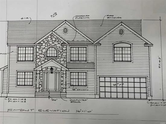 Virtual Photos..New Construction Colonial 5 Bedrooms, 2.5 Baths, Eat-In Kitchen Ss Appliances, Granite, Oak Hardwood Floors, Master Suite W/Designer Bath & Walk-In Closet, 2 Zone Cac, 2 Zone Fha, Crown Moldings, Wainscoting Lr/Dr, Family Room W/Frplc, Igs 200 Amps, 2 Car Garage, Full High 8' Ceiling Basement, Massapequa, SD #23 80x100