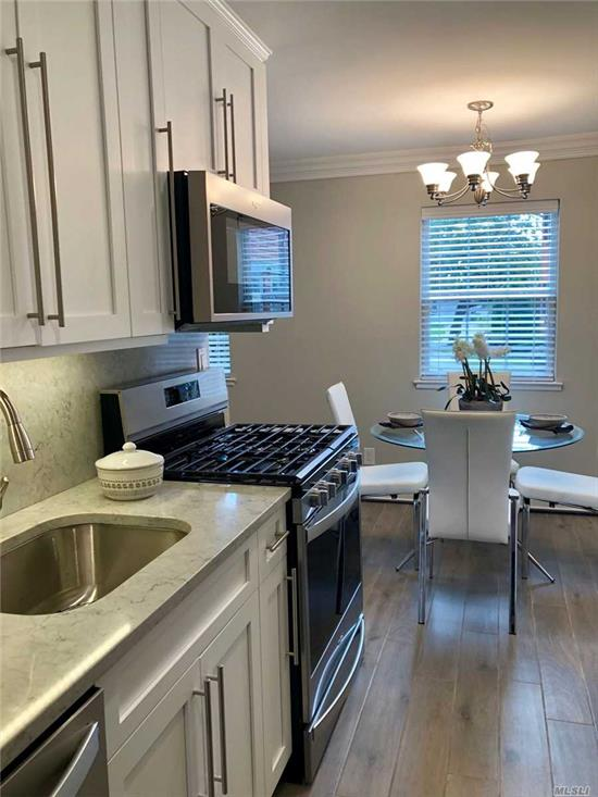 Shaker-style kit/bath cabinets.Quartz ctrtop/backsplash/plank tile flr. Frmls shwr drs.subway tile bath/quartz vanity/tile floor.Hi-hats.Ceil fans.Whirlpool Stainless applicances. WD. Gray premium carpet. Close to all. Prices/policies may change w/o notice.