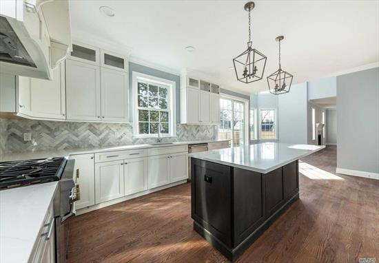 Rare New Construction located in the heart of Rockville Centre. Approx.3, 500 Int Sq Ft, Lot Sq. Footage 12, 502. Chefs gourmet kitchen w/butler's pantry, coffered ceilings, custom moldings.4 bedrooms, 4.5 baths, all bedrooms en suite & 2nd floor laundry. Full basement w/slide door exit & 9' ceilings. Close to LIRR, shopping & restaurants. RVC School District, 35 Min to Penn Station via LIRR, 20 Minutes via Car to the Ocean Beaches. Too much to list!