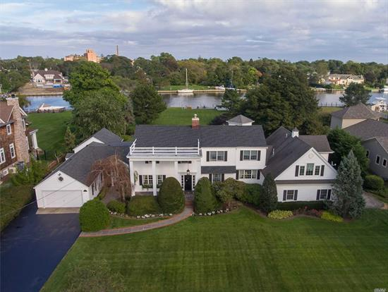 Elegant And Pristine Home W/155' Bulkhead On Wide Natural Waterway. Open Kit, Den, Breakfast Room And Solarium Informal Open Flowing Floor Plan From Across Rear O'looking Magnificent Grounds, Pool And River Views, Yet Formal Days Of Yesteryear With Banquet Fdr And Lr. Full Guest Quarters, 2 Separate 3 Car Garages. Flood Insurance $499 Per Year.
