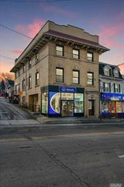 Investment Opportunity on Mixed-Use Property.w/ Upside to Make Higher Income Corner Building Located in The Heart of Port Washington Downtown. Water View Retail plus Apartments (5). Two (1) One Bedrooms w/ Full Bath, Two (2) Two Bedrooms w/ Full Bath with water-view, & recently renovated Studio w/ Full Bath 7.2% Cap Rate - Gross Income: $139, 500.00 The flyer w income and expenses is attached