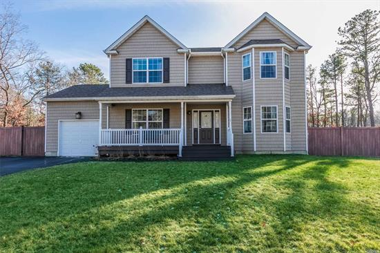 Built in 2015 this 4 Bedroom, 2.5 Bath Colonial Sits on a Desirable, .65 Acre Location in Paramount Woods Development. Featuring Both Formal Living and Dining Rooms. Eat-in-Kitchen & Breakfast Nook. Family Room with Stone Fireplace. Master Bedroom Boasts a 5-Piece Bath & Walk-in Closet. Three Additional Bedrooms. Full Bath. 1-Car Attached Garage & Full Unfinished Basement with Outside Entrance Lends For Many Possibilities. CAC.. Wood Floors.. Crown Molding.. & More Builder Upgrades Throughout!