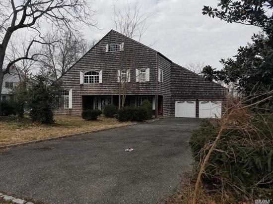 This Is A Bank Owned Property Foreclosure. Featuring a Colonial Home With 4 Br 2.5 Baths. Living room with vaulted ceilings, Dinning room, living room with a fire place. Exterior deck overlooking Dosoris pond.