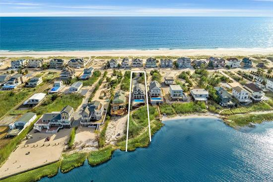 Beautiful, Turn-key, Bayfront Haven! Brand new kitchen w/ top of the line appliances, open to great room w/ fireplace and dining. Views of the bay from every angle and open to a spacious deck w/ spa & heated pool, outdoor shower and private walkway to the bay. With access to the ocean, this is the perfect Hamptons retreat!