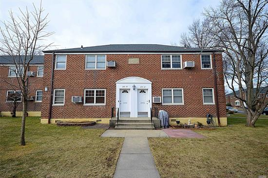 Well Maintained Bright Corner Upper Unit, Large Living Room/ Dining Area and large bedroom. New Carpet was installed. New stainless steel refrigerator and oven. Pull Down Attic for Storage. Amenities include Laundry, playground and security. Close to Transportation, School and Shops. Must See!
