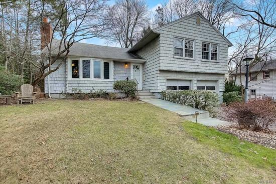 This spacious home in the Highfield Estates part of Port Washington is conveniently located within a short distance to LIRR, Weber Middle & Schreiber High School. Highlights include impressive stone fireplace, over-sized sunroom, 2-car garage, master-ensuite and an additional bonus den with own separate entrance. Plenty of storage in basement with comfortable ceiling height. Hardwood floors throughout. 3D TOUR: https://my.matterport.com/show/?m=e7gqHN3YSZr&brand=0