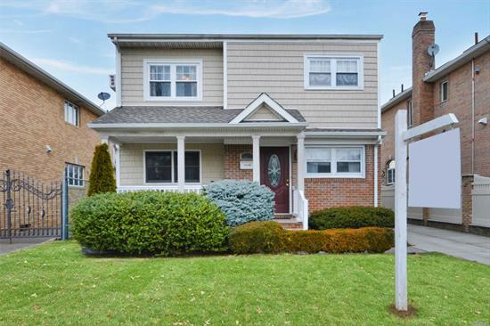 Look no further... Bright, spacious, and well maintained detached 2 family home in prime Whitestone location. Recently renovated with new roof, plumbing, new electric, kitchen & bathroom, etc. Custom 20 x 40 in ground swimming pool. Convenient to shopping & transportation. SD 25 P.S 79, JHS 194 and Flushing H.S. Convenient to shopping & transportation.
