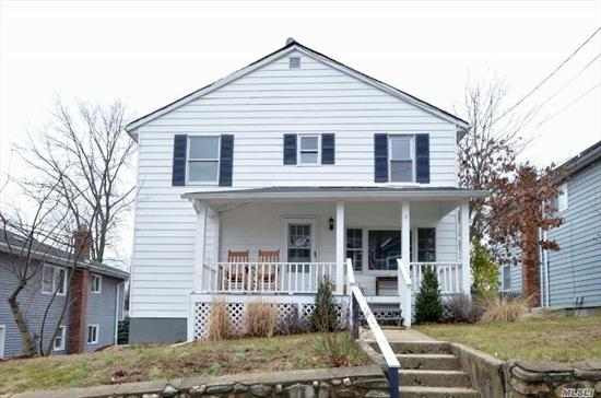 Charming 1903 Colonial Mid Block Location! Recently Updated. Lr, Eik w/Door to 2nd Story Deck w/Staircase to Spacious Yard, Den/Fam Rm & Full Bath. 2nd Floor; 4 Bdrms, Full Bath. Full Finished w/Walk Out.