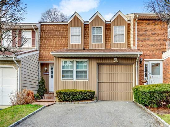 Largest Model. Features updated kitchen w granite tops. 3.5 baths.. Wood floors..raise panel doors.. Master suite with closet galore. Vaulted ceilings.. Finished basement with bath..double set of sliders off the living room and dining room to deck..Clubhouse, Pool, Tennis Courts, Pickleball, playground & New Gym. Pet-Friendly Community. Prestigious Syosset-Woodbury Schools.