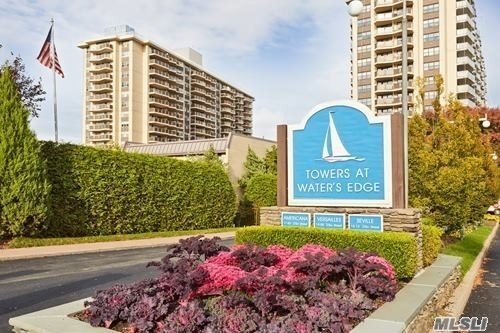 Bayside 1 Bedroom in Dog-Friendly Americana at the Towers at Water's Edge. Modern elegance featuring a kitchen w/ granite counters, SS appliances, & a spa-like bath. Gleaming hardwood floors & private terrace offers southeastern views of Little Neck Bay. Base Maint:$1, 004.02+Electric $90.75+Amverse $100+Amverse Asmt.$150 (until 2025)=$1, 344.77. Enjoy Resort Style Living 24-hr doorman, indoor/outdoor pkg. Salon, dry cleaners, cafe/convenience store, health club, outdoor heated pool & tennis.