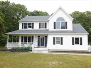 Victorian with open front porch on shy 1/2 Acre property .Bedroom and full bath first floor . The basement has OSE. Vinyl siding, new burner , hardwood floors, & more.