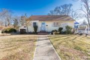 Charming cape in South Bayport, open floor plan w/ floor plan with floor to ceiling windows that floods sunshine all day. Wood floors, new deck w/sliders. New roof and upstairs loft w/ endless possibilities. Award winning so you don't want to miss this one!
