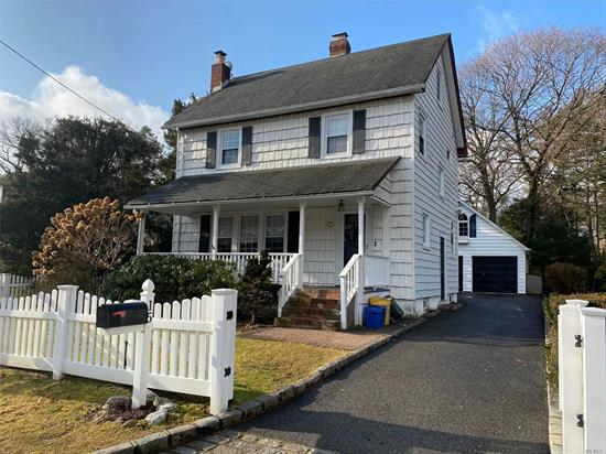 Charming and clean Colonial in North Syosset- a convenient location to Shopping & Railroad. Living room with wood burning fireplace, dining room with built in, three bedrooms and bath upstairs with finished attic.....