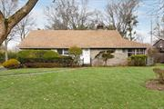 Roslyn. Located In The Marchant Park Section Of Roslyn. This 4 Bedroom Expanded Ranch Offers Much Potential. Large EIK, Formal Dining Room, Generous Room Sizes And Very Large Property. Mid-Block Location. Near LIRR And All Transportation.