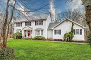 Lovely 4BR, 2.5 Bath 2500+sq.ft.Colonial Tucked Away in Desired Oak Hill Estates! EIK w/Oak Cabinets, Granite Counters, Stainless Steel Appls, & Ceramic Tile, Wet Bar to FDR, Den w/Woodburning Fplc, All Oversized Rooms, Wood Floors, French Doors, Hi Hats, Andersen Windows, Full Bsmt, 2 Car Garage, Upgrades Include: Heating Sys, HWH, CAC, 40-Year Roof, Leaders & Gutters; All Located on 1.07/Acre w/Semi-IGP w/Decking, Cobblestone-Lined Walkway & Stone Stoop, A Must See! Taxes Being Grieved