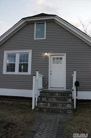 FULLY RENOVATED RIPPED DOWN TO STUDS AND TOTALLY REBUILT CAPE COD WITH CUSTOM KITCHEN AND BATHS ALL NEW HARDWOOD FLOORING 3 LARGE BEDROOMS 2 FULL CUSTOM BATHS FULL BASEMENT WHICH IS UNFINISHED