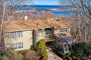 Walk in to Superb Water views from every angle! Perched on hill with spectacular vistas of Mt. Sinai Harbor & sunrises. Hidden from the street on 1.3 acre Cul-de-Sac just minutes to private beach, golf, tennis and dinning! A Harbor Hills Treasure.