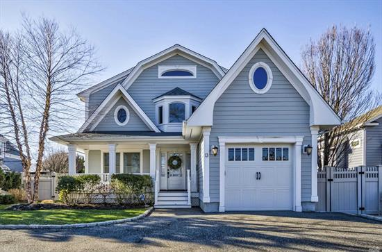 Stunning Custom Built Waterfront Colonial (2012) in Prestigious Nassau Shores 2nds to the Open Bay! Detailed to Perfection Featuring a Grand Entry*Custom Designed EIK w/Breakfast Area & Walk in Pantry*LR w/Gas Frplce*Formal Dining Rm*.5 Bth*Master En-Suite w/Wic & Whirlpool Tub* 3 Spacious Bdrms* Custom FBth* Stand Up Attic* CAC, Gas/Ha*Hardie Board Siding & Azek Trim, Private Fenced Resort Backyard for Entertaining with IG Saltwater Heated Pool, 70 Ft Navy Bulkhead*Floating Dock*Flood Ins $678.