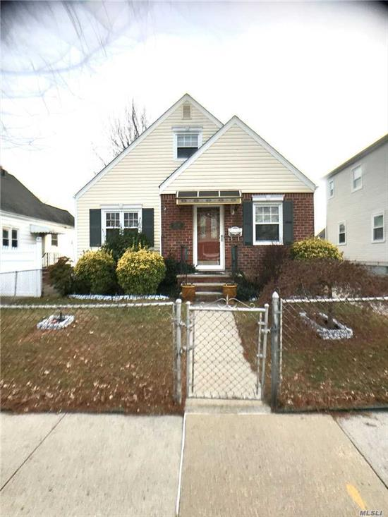 Classic Cape, 3 Bedroom, 1 Full bath move in condition. 1st Floor: 2 Bedrooms, 1 Full bath, Living Room, Dining Room, Eat in kitchen with door to rear yard. 2nd Floor: 2 Rooms. Full basement w/ laundry room, boiler room. Heat: Oil forced air. Gas stove and hot water tank. Lot size 41 x 97. Zoned R2A, UNUSED FAR 994 Sq. Ft. Private driveway, fenced in yard.