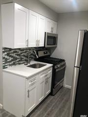 Walk-in level, one bedroom with newly-renovated kitchen, with stainless steel appliances, quartz countertop. Renovated, well-appointed full bathroom. Living room/ Dining room combo space. Private/partitioned outdoor patio space. Heat and hot water included. No pets, non-smoking.