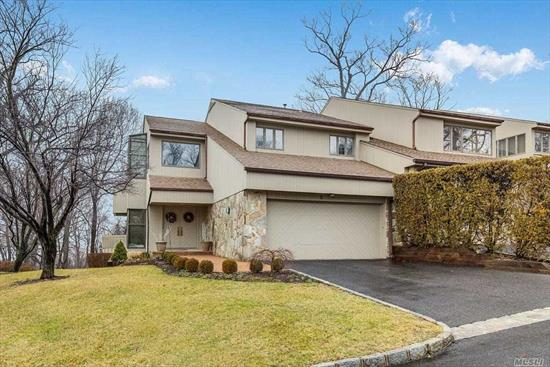 Beautiful End Unit With Gorgeous Prominent Winter Water Views of LI Sound & Zen-Like Summer Views from the Decks & Windows. Sun-Filled & Gracious Sized Rooms, Great Rm, Soaring Ceilings & Many Updates. Stunning Fully Renovated His/Hers Master Bth, Pwd.Rm Flrs. Interior Doors, Walkways, Decks and Brick Patio. 2 Fpls converted to Gas, CVac, Tennis, Pool, Breath Taking Sunsets! Move Right in and Enjoy!