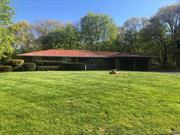 Mrs. Clean Lives Here!! Sprawling Ranch Custom Built to Perfection Beautiful .79Acre Shoreham Village! Home Has Been Lovingly Maintained By It's Original Owner, Boasting Full Brick Exterior, CAC, Family Room W/Stone Fireplace, Andersen Windows, New High Efficiency Heating System, Generously Sized Rooms, Tremendous Basement With High Ceilings, Built-In Bar, Bathroom, Summer Kitchen, Workshop & Outside Entrance. All Village Amenities. Private Beach, Tennis& Clubhouse..Taxes Being Professionally Grieve!