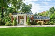 Great opportunity to own this well-maintained brick center hall colonial set on over 2 acres & located in the heart of Old Westbury. This home offers two master suites, over-sized rooms, formal LR w/ fireplace, formal DR, private home office, and a chefs' kitchen w/ large center island. Also featuring a huge addition off the back of the house for a great family room/den with vaulted ceilings, floor to ceiling windows & stone fireplace. An entertainer's yard completes this charming home.