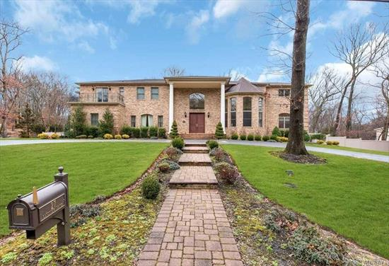 Stately Brick Colonial w/ Circular Drive, 6 BR, 4.5 Baths, Full Basement, New Pool & Spa, Outdoor Kitchen & Fire Pit! 6000 SF home has 2 story EF w/ Bridal Staircase & Radiant Fl. Beautiful FDR, FLR & Library. Gourmet Kitchen w/ High End Appl., 2 Pantries & Radiant Fl! 1st Fl. Guest Suite. Master w/ Bth & Terrace. 2nd BR w/ Terrace & J&J Bth to 3rd BR. 4th BR w/ Balcony & J&J Bath to 5th BR. Huge Basement! New Pool w/ slide, waterfalls & hot tub! New Outdoor Kitchen & Fire Pit! SD#5 HHH