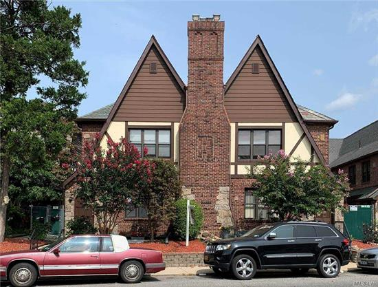 This old world charm Tudor consists of 4 duplexes comprising a total of 8 apartments. It has updated plumbing & electrical as well as newer fixtures & appliances. It has intriguing architectural elements from a 25 ft. cathedral ceiling, arched doorways, timber beams and much more. Well maintained property by the owners. Close to shopping & blocks away from public transportation.