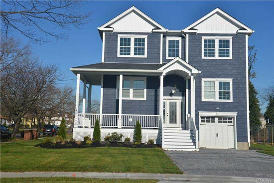 3440 sq ft colonial home with 5 bedroom, 3 bath and 4 car garage on a 75x125 lot. The 1st floor has a Living Room, Dining Room, Family Room, Guest Room, Eat-in kitchen with center island, quartz countertops and stainless appliances,  2nd floor has a Master bedroom with en suite, walk-in closet, and private balcony, plus 3 more bedrooms and Laundry Room! Taxes are pending