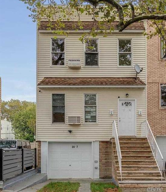 ALL renovated 2-Family House with garage & pvt driveway in Glendale, NY.New Plumbing, New Electric, New Roof, New Kitchens, New Baths, New Boilers(2), New Hot Water Heaters(2), New Garages, 4-Stories Building, ........Must see it!.close to all!