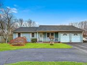 Great Exp Ranch on Quiet Dead end Street. Features a Spacious Den with High Ceilings, Formal Living Rm, Renovated Eat in Kitchen w/ Granite and New Appliances. New Roof. Central Air. No representation for Split system in Basement. Finished Basement. Large Private Back Yard. Green Grass was Photoshoped !!