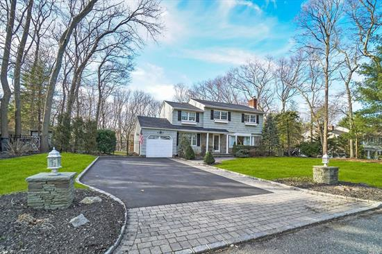 Beautiful Betsy Ross CH Colonial on Private Wooded 1/2 Acre Setting in Village of the Branch, Updated EIK/Gas Cooking, New Baths, Hardwood Flrs Throughout, Magnif Stone Fireplace, Updated CAC, Siding, Roofing and Windows, Newer Heating System, Custom Moldings, Trim and Recessed Lighting, Full Attic/Pull Down Steps, Heated (Gas) IGP, Total 2020 Basic Star Tax with Village is $12, 853.65