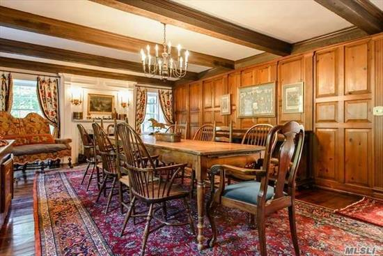 Designed by Hewitt & Bottomley. This Original 1793 Farmhouse, the Former Residence of James M Townsend, Jr was Transfused With Two Wings in the Early 1900s. 7+ Bedrooms, Wide Planked Floors, Oak Paneled Library, DR with Fpl. Two Patios, Heated Pool, Tennis Court. 2019/20 Property Assessment Successfully Grieved 25% for Reduction.