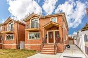 Brand new two family for sale in Whitestone, 3 bedroom 2 full bath over 3 bedroom 2 full bath and attic, plus finished basement and one bath, washer and dryer, private driveway and one car garage.