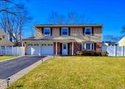 Diamond 4 bedroom, 2.5 bath Splanch in Nesconset. Incredible floor plan - Entertainer's Delight! Spacious foyer welcomes you to the updated kitchen with marble counter tops. New flooring on first level. Inviting Family room with wood burning fireplace. Beautiful Master bedroom suite. 3 Additional Spacious bedrooms with ample closet space. Elegant new bathrooms. New Roof. New hi -hats - Light & Bright. Gleaming Hardwood floors. Custom blinds. Smithtown Schools! Truly Move in! Home Sweet Home!