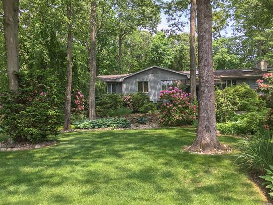 Beautiful expanded split ranch in fabulous Hunt.Hills location.Prof landscpd w/gorgeous yr round views. Open foyer to expansive lvgrm, fdr. EIK with hi-end Miele appls, fpl, sliders to deck w/ gas line grill.Master w/ensuite, custom walk-in closet. Fmly rm w/fpl, sliders to covered patio and IG pool. 2 boilers, cac, cvac, and much more! Wonderful home for family & entertaining!