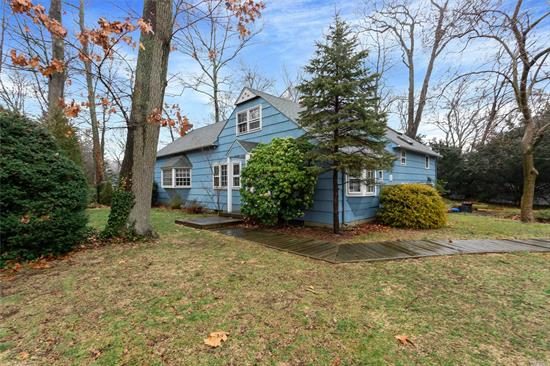 Spacious and attractive home on private, fully fenced 1/2 acre in Rollingwood section of Melville. Updated EIK kitchen with new SS appliances, Great room with fireplace and sliders to large wood deck, Formal DR with fireplace. Master bedroom en suite, 2 bedrooms and large playroom or study/office attached to 3rd level bedroom. Attached garage opens into lower level laundry room. Pets allowed . S. Huntington SD 13