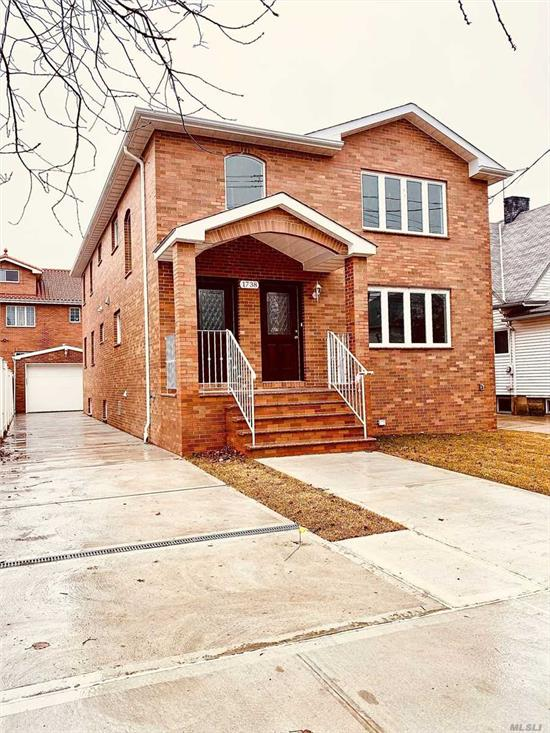 Gorgeous (40X100) Brand New Legal 2-Family In Very Convenient Neighborhood. Extra-Large Building Size (27X50). New Foundation. Top-Of-The-Line Building Materials. Granite eat-in kitchen. High-Ceiling Basement With Separate Entrance. Beautiful Hardwood Floor. Close To Shops, Bus Stop And Elementary School. Convenient To All.