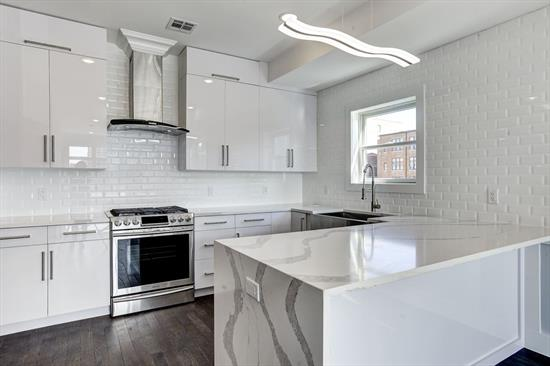 Brand New Construction In The Center Of Jersey City'S Revitalized Journal Square Commuter Hub. Bright And Spacious Layout With A Free-Flowing Feel, 270 St. Pauls Offers The Highest Level Of Design And Craftsmanship. No Detail Has Been Spared In This Gorgeous 2 Bed 2 Bath Unit With 400 + Sqft Of Deeded Private Rooftop Deck. Its Designer Kitchen Is Adorned With Calacatta Marble Patterned Quartz Countertops, Custom Cubitac Kitchen Cabinets, Premium Bosch And Samsung Stainless Steel Appliances And White Tile Backsplash. These Design Elements Are Complimented By Dark Matte Hardwood Floors And Led Lighting Throughout. The Master Suite Offers An Escape From It All With A Private Terrace And Luxurious En Suite. Each Bathroom Offers A Unique Custom Mosaic Glass And Designer Porcelain Tiles. Other Features Include Central Hvac And, Full Size Front Load Samsung Washer And Dryer In Unit. Located Minutes To Journal Square'S Transportation Hub, Nightlife, Seasonal Farmers Market And Many Diverse Shops And Restaurants. Units Come With A 5 Year Tax Abatement And 10 Year New Construction Builder Warranty. Building Is Equipped With Sprinkler System And Video Cameras. Call Us Now For Your Private Showing.