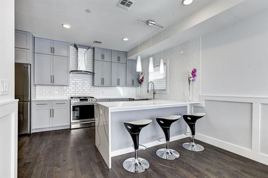 Brand New Construction In The Center Of Jersey City'S Revitalized Journal Square Commuter Hub. Bright And Spacious Layout With A Free-Flowing Feel, 270 St. Pauls Offers The Highest Level Of Design And Craftsmanship. No Detail Has Been Spared In This Gorgeous 2 Bed 2 Bath Unit. Its Designer Kitchen Is Adorned With Calacatta Marble Patterned Quartz Countertops, Custom Cubitac Kitchen Cabinets, Premium Bosch And Samsung Stainless Steel Appliances And White Tile Backsplash. These Design Elements Are Complimented By Dark Matte Hardwood Floors And Led Lighting Throughout. The Master Suite Offers An Escape From It All With A Private Terrace And Luxurious En Suite. Each Bathroom Offers A Unique Custom Mosaic Glass And Designer Porcelain Tiles. Other Features Include Central Hvac And, Full Size Front Load Samsung Washer And Dryer In Unit. Deeded Backyard And Deeded Rooftop Are Available. Located Minutes To Journal Square'S Transportation Hub, Nightlife, Seasonal Farmers Market And Many Diverse Shops And Restaurants. Units Come With A 5 Year Tax Abatement And 10 Year New Construction Builder Warranty. Building Is Equipped With Sprinkler System And Video Cameras. Call Us Now For Your Private Showing.