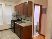 Newly Renovated 2 BR 1 BT Apartment in Privately Owned Building. Complete with Formal Dining Area and Separate Living room Wood Floors Throughout. Conveniently Accessed on First Floor. Centrally located near bus stops and Two Blocks away from Eastern Parkway. Heat & Hot Water included.