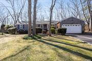Great house, quiet neighborhood in Port Jeff Village. Lots of natural light. Ranch with full finished basement. 3 beds & 2.5 baths. Formal DR & LR. Updated Baths & skylights. Plenty of space! Den w/ brick FP has double glass doors that lead to very lg back deck . Private, wooded back yard, 1/3 acre. Plenty of space for a pool. Updated EIK- granite, Stainless Steel App, pantry & mudroom. Village Amenties-Tennis, beach rights, Village Festivals, Shop'g & Restaurants Gas on str