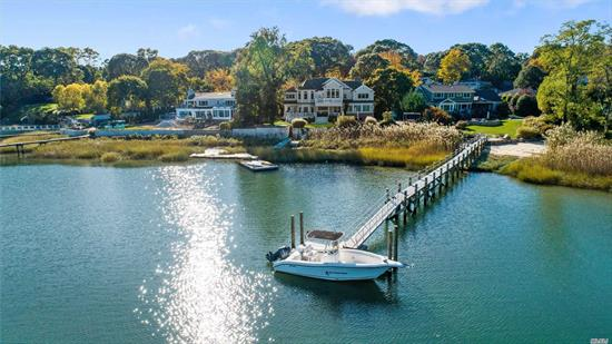 Fabulous Opportunity to Live At the Waters Edge! Newer Custom Built Waterfront Colonial Overlooking Bird Island and Northport Village. Large Principal Rooms, Amazing Detailed Moldings, Walls of Glass and Master Suite wth Fireplace, Spa Bathroom and Private Outdoor Deck. Heated Saltwater IGP and Covered Patio Make This Your Own Private Retreat.